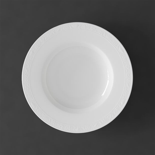White Pearl soup plate, , large