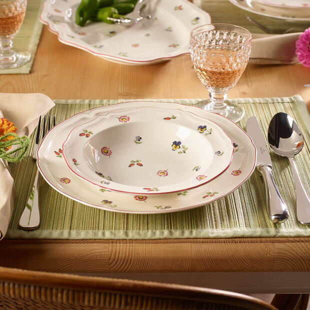 Petite Fleur soup plate, , large
