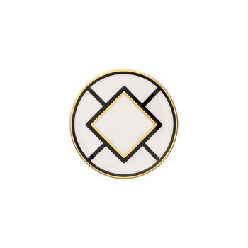 MetroChic coaster, 11 cm diameter, white/black/gold