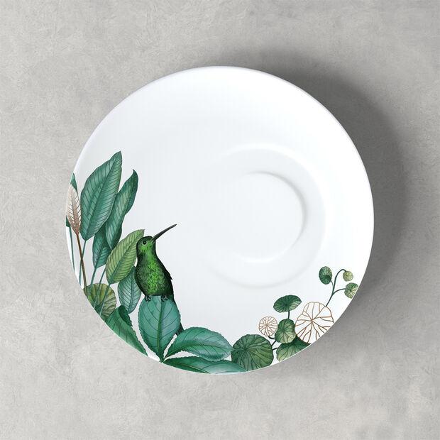 Avarua coffee cup saucer, 18.5 cm, white/multicoloured, , large