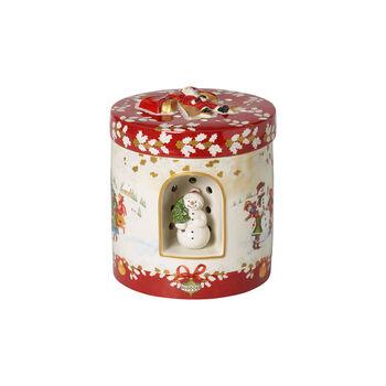 Christmas Toys Gift box large round, children 17x17x20cm