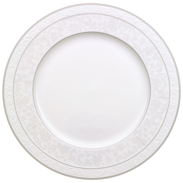 Gray Pearl round flat plate, , large
