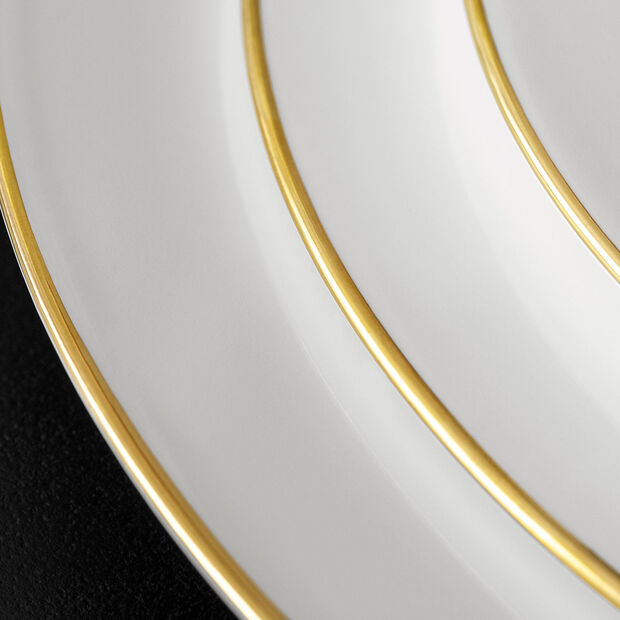 Anmut Gold round plate, 32 cm diameter, white/gold, , large
