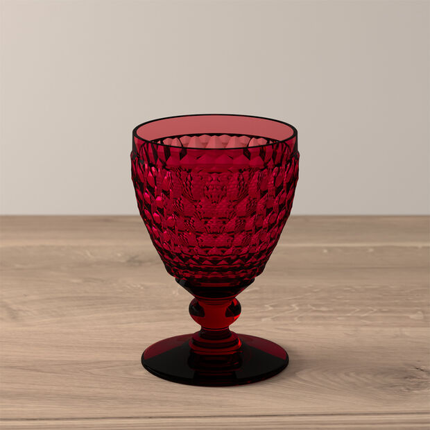 Boston Coloured White wine glass Red, , large