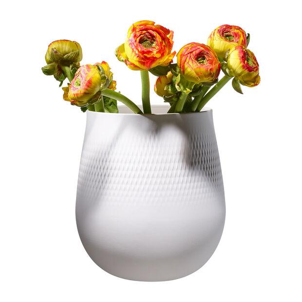 Manufacture Collier blanc Vase Carré large 20,5x20,5x22,5cm, , large