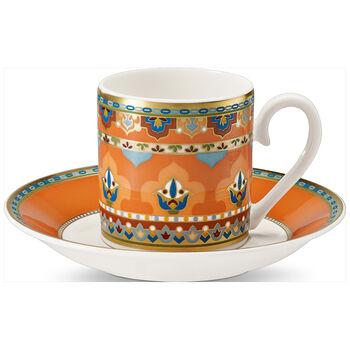 Samarkand Mandarin Espresso cup & saucer 2pcs