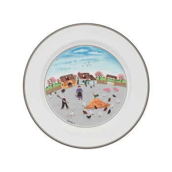 Design Naif dinner plate Poultry farm