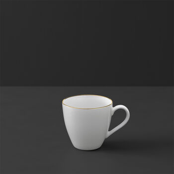 Anmut Gold mocha/espresso cup, 100 ml, white/gold