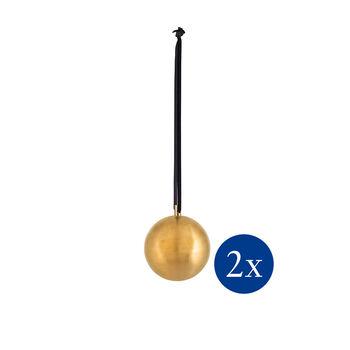 Christmas Decoration Xmas ball metal Set 2 M 8cm