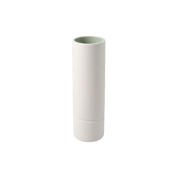 it's my home large vase, 6 x 20 cm, green/white, , large