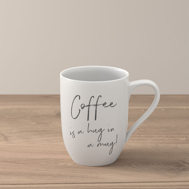 "Statement mug ""Coffee is a hug in a mug"", , large"