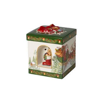 Christmas Toy's large square gift box Santa Claus, 16 x 16 x 20 cm