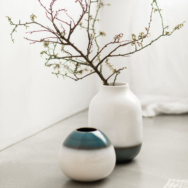 Lave Home egg-shaped vase, 14.5 x 14.5 x 13 cm, Bleu, , large