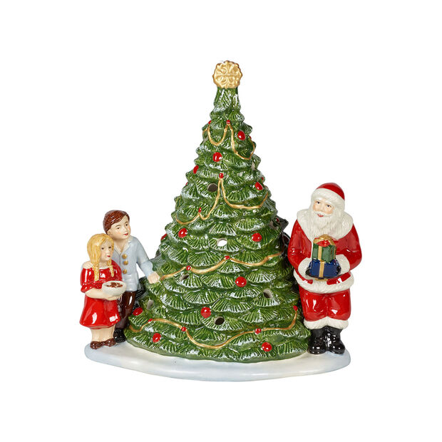 Christmas Toy's Santa on a tree, green/multicoloured, 20 x 17 x 23 cm, , large
