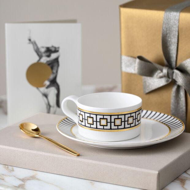 MetroChic tea cup, 230 ml, white/black/gold, , large