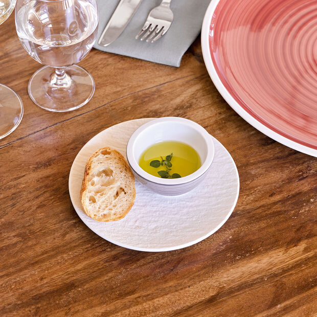 Manufacture Rock blanc Bread & Butter Plate 15,5x15,5x2cm, , large