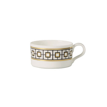 MetroChic tea cup, 230 ml, white/black/gold