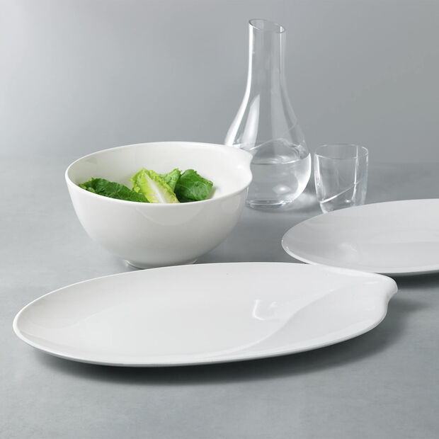 Flow oval plate 36 cm, , large