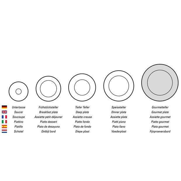 Manufacture Rock Blanc rectangular serving plate, white, 35 x 18 x 1 cm, , large