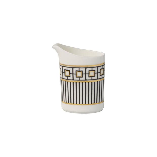 MetroChic milk jug, 220 ml, white/black/gold, , large