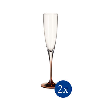 Manufacture Glass champagne goblet 2-piece set