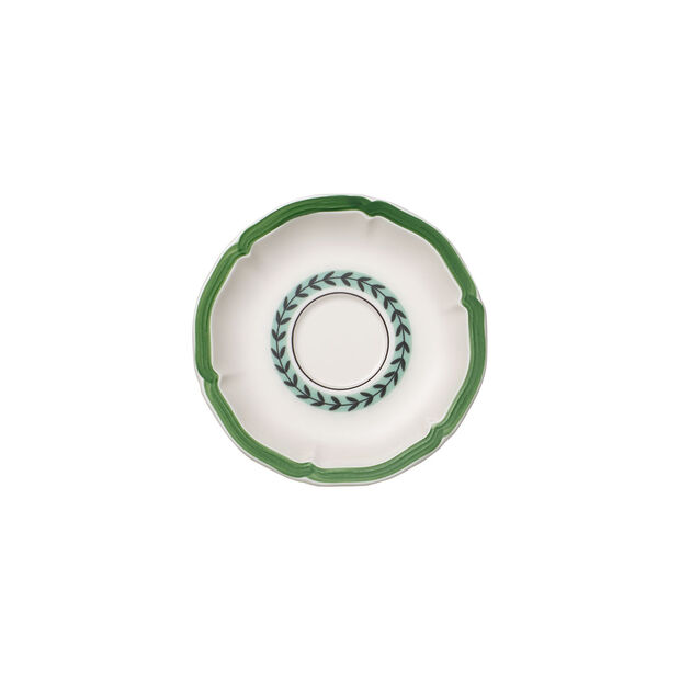 French Garden Green Line tea cup saucer, , large