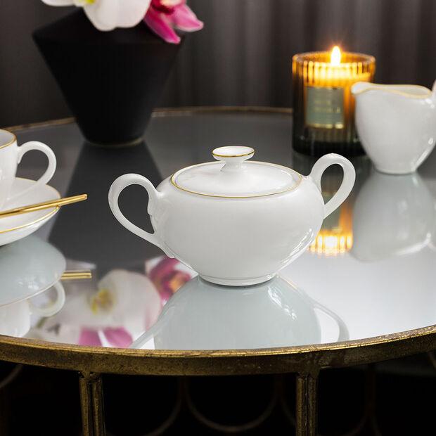 Anmut Gold sugar bowl, 350 ml, white/gold, , large