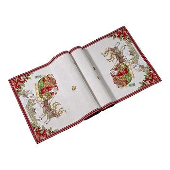 Toy's Fantasy Gobelin runner sleigh XL, red/multicoloured, 49 x 143 cm