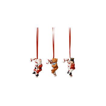 Nostalgic Ornaments Orn. Santa, Teddy, rocking horse 3pcs.