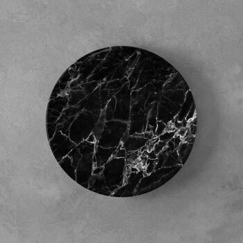 Marmory breakfast plate black 21 x 21 x 1,5cm
