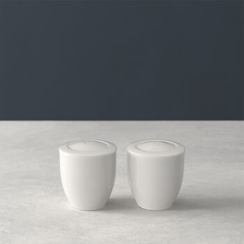 For Me salt and pepper shakers, white, 2 pieces