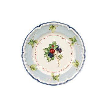 Cottage Salad plate blue background