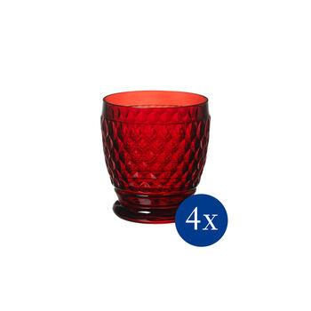Boston coloured Tumbler red Set 4 pcs