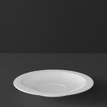 White Pearl tea/coffee cup saucer