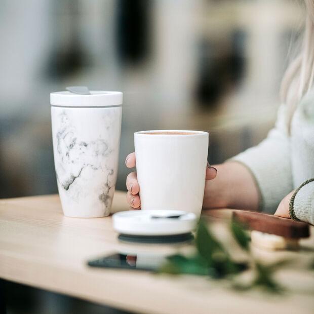 To Go coffee mug, 270 ml, white, , large