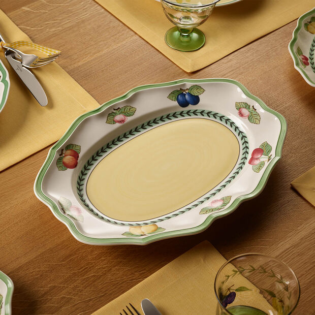 French Garden Fleurence oval plate 37 cm, , large