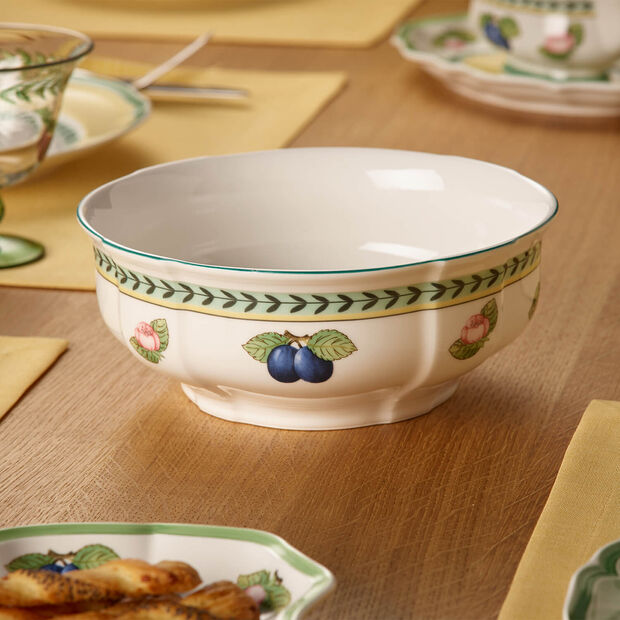 French Garden Fleurence round bowl, , large