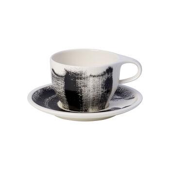 Coffee Passion Awake White coffee cup & saucer 2pcs