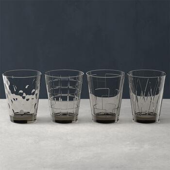 Dressed Up water glass 4-piece set Smoke