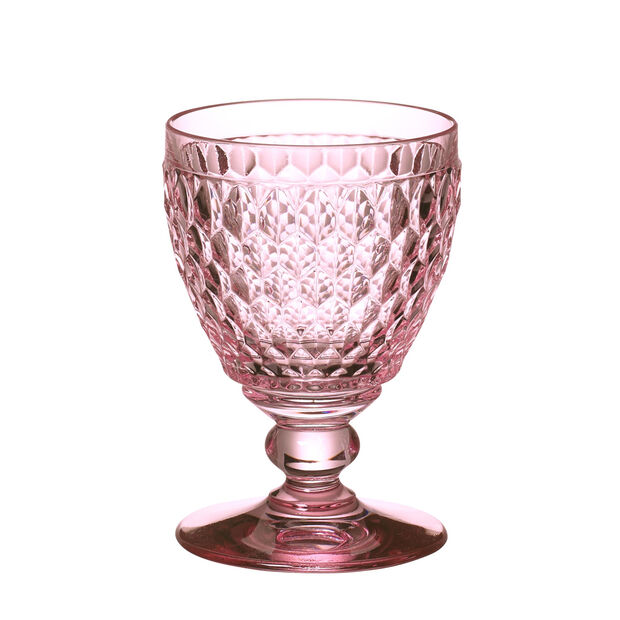 Boston Coloured Red wine glass Pink, , large