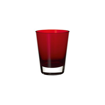 Colour Concept cocktail/water glass Red