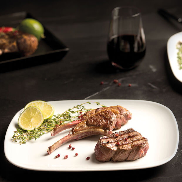 vivo | Villeroy & Boch Group New Fresh Collection Set of 2 Steak plate 30x25cm, , large