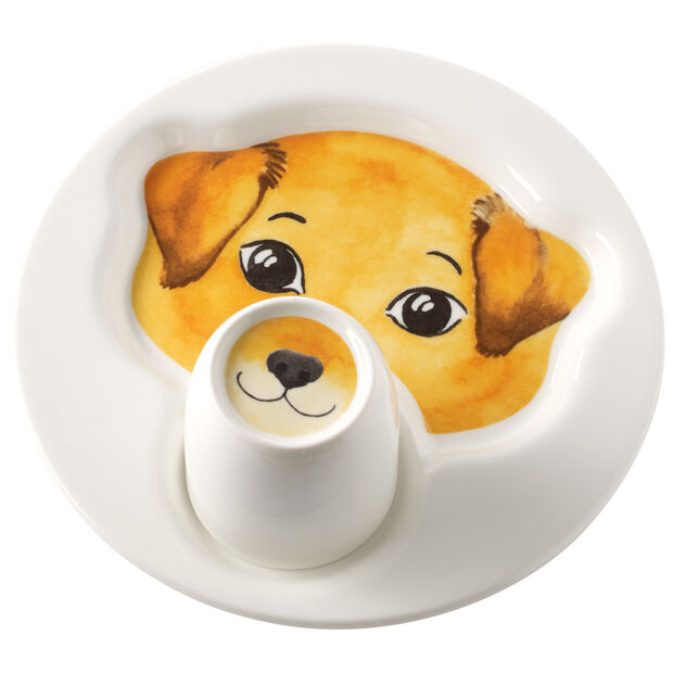 Animal Friends Plate with mug, dog, , large