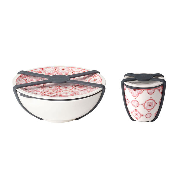 like.by Villeroy & Boch To Go salad set, 2 pieces, Coral, , large
