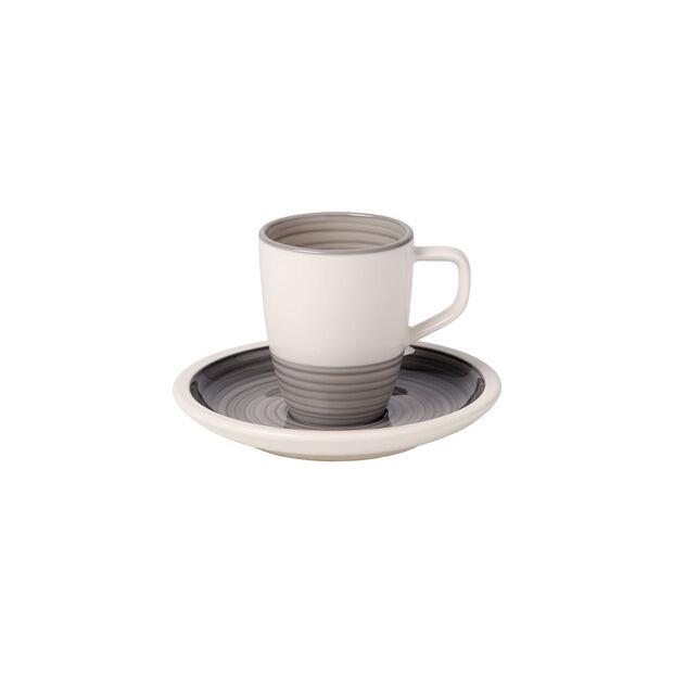 Manufacture gris Espresso cup & saucer 2pcs, , large