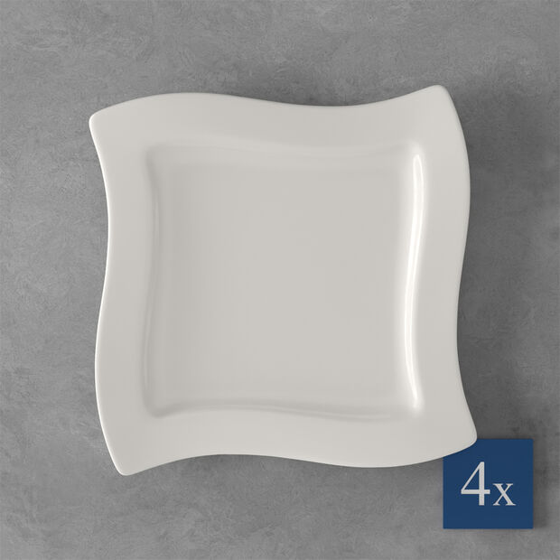 NewWave breakfast plate, square, 4 pieces, , large