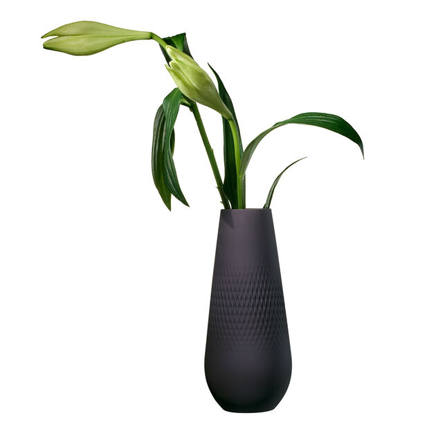 Manufacture Collier noir Vase Carré tall 11,5x11,5x26cm, , large