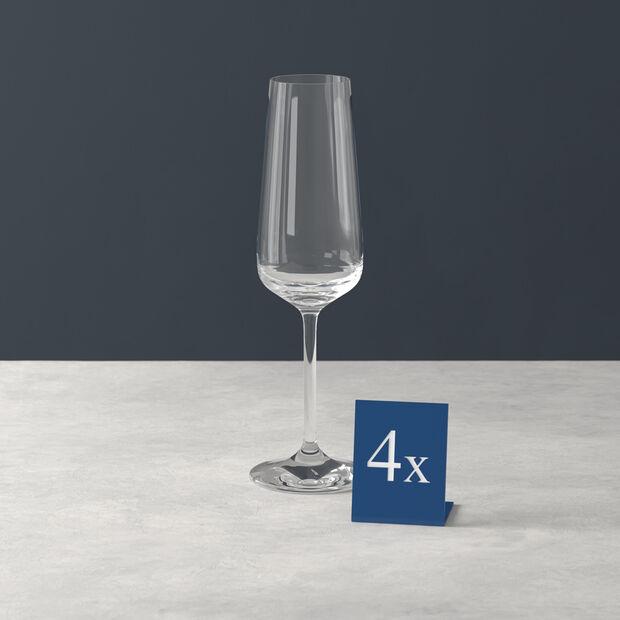 Ovid champagne glass 4-piece set, , large