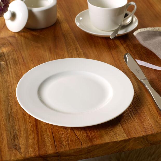 Twist White dinner plate, , large