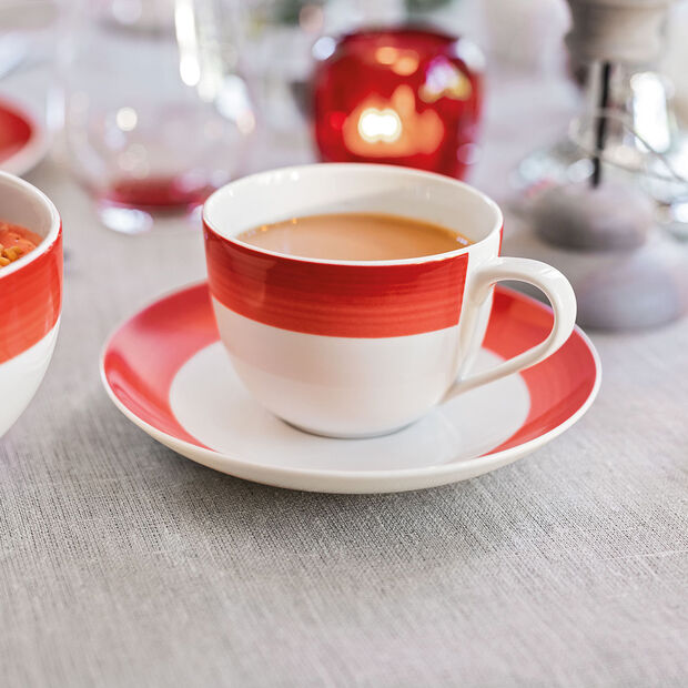 Colourful Life Deep Red coffee cup saucer, , large